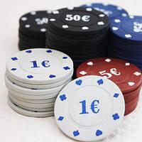 Фишки для покера 100 фишек, покер