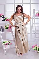 Длинное вечернее платье для пышных дам 03534