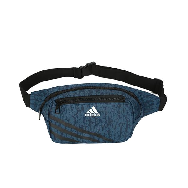 Сумка на пояс Adidas темно-синяя с белым логотипом (реплика)