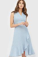 Вечірнє голубе плаття з льону Fiona
