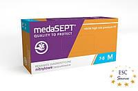 Перчатки Нитриловые СВЕРХПРОЧНЫЕ medaSEPT  high risk Оранжевые размер M 100шт