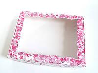 Коробка для кондитерских изделий 20х30х3 см Розовые сердца