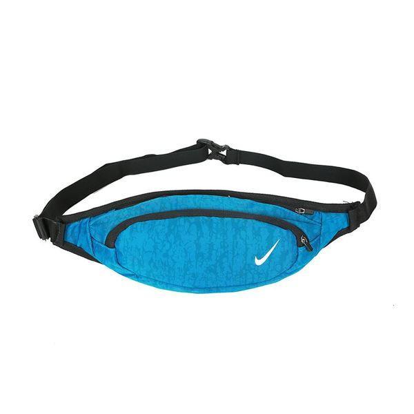 Сумка на пояс Nike голубая с белым логотипом (реплика)