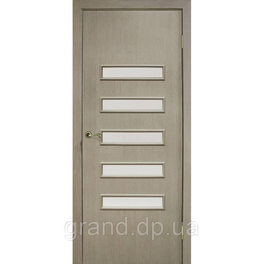 Двери  межкомнатные Омис Аккорд 3 экошпон остекленная , цвет сосна мадейра