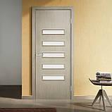 Двери  межкомнатные Омис Аккорд 3 экошпон остекленная , цвет сосна мадейра, фото 2
