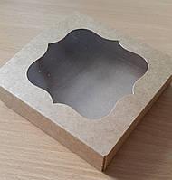 Коробка для пряников 12х12х3 см Крафт