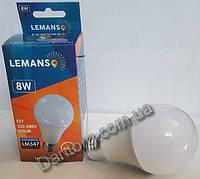 Лампа LED Lemanso  A60 8W E27 6500K 220V