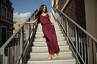 Женское  платье сливового цвета в пол