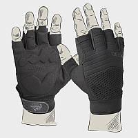 Перчатки тактические Helikon-Tex Half Finger- чёрные ||RK-HFG-PO-01
