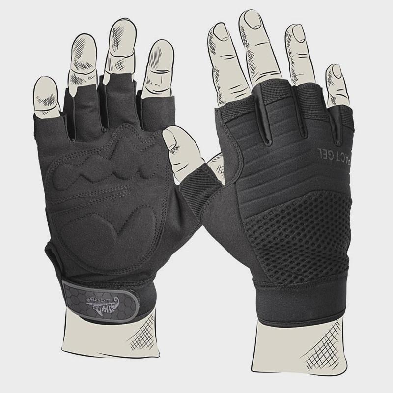 Перчатки тактические Helikon-Tex Half Finger- чёрные ||RK-HFG-PO-01 - Шерман в Киеве