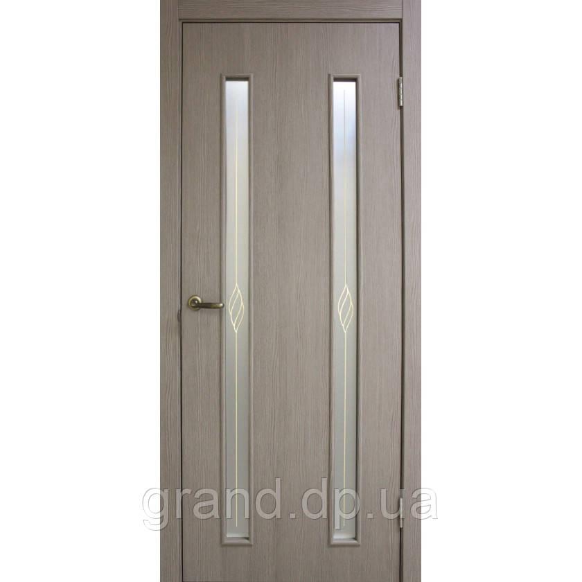 """Дверь межкомнатная """"Вероника СС+КР экошпон"""" остекленая, цвет  сосна мадейра"""