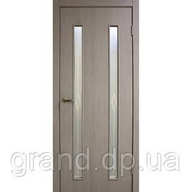 Двери межкомнатные Омис  Вероника СС+КР экошпон остекленная, цвет  сосна мадейра