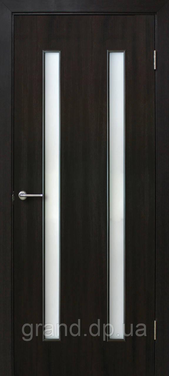 """Дверь межкомнатная """"Вероника ПО экошпон"""" остекленая, цвет венге"""