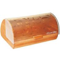 Хлебница Kamille деревянная с прозрачной крышкой
