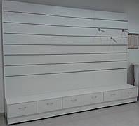 Торговая мебель Стеллаж Экономпанель ( Экспопанель ) Стеллаж с тумбой,