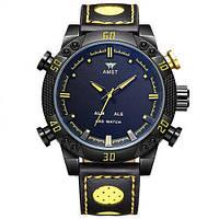 Часы мужские наручные AMST Shark black-yellow
