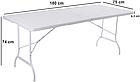 Туристичний складаний стіл 180 см для відпочинку на природі, фото 3
