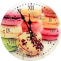 """Часы стеклянные """"Пирожное"""""""