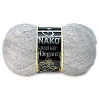 Nako Mohair Eligant светло-серый № 195 / Delicate 6128