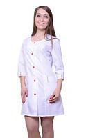 Медицинский женский белый халат из хлопка
