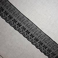 Кружево органза Черное, 7,5 см, фото 1