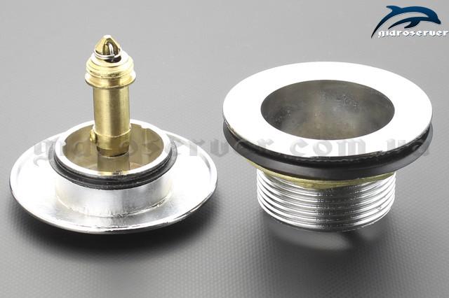 Корпус и нажимной механизм донного клапана для душевой кабины, гидромассажного бокса DK - 02.