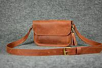Женская кожаная сумка | Винтажный Коньяк, фото 1