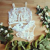 Свадебный белый комплект белья Eva