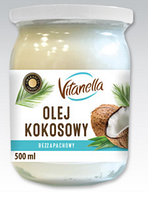 Кокосовое масло рафинированное Olej Kokosowy Vitanella, 500 грамм
