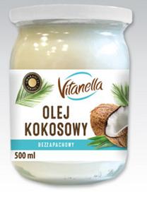Масло Кокосовое 500мл рафинированное Olej Kokosowy Vitanella