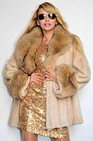 Шуба из скандинавской норки с воротником из лисы. Есть все размеры. Длина 80 - 100 см.