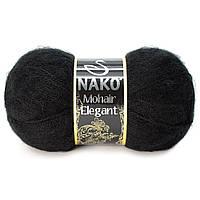Nako Mohair Eligant черный № 217/ Delicate  6130