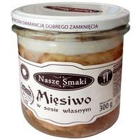 Тушенка свиная в собственном соку Nasze Smaki Miesiwo, 300 гр.