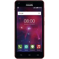 Смартфон Philips Xenium V377 Dual Sim Black Red