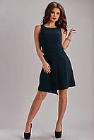 Платье красивого фасона темно-зеленое  40-48 размеры