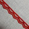 Кружево гипюр Волна красное, 1,5 см