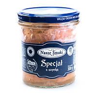 Тушенка свиная с беконом Nasze Smaki Special z szynka, 300 гр.
