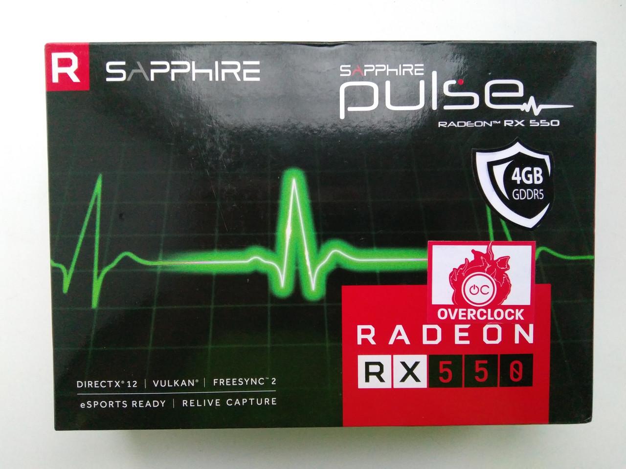 Видеокарта Sapphire Radeon RX 550 4GD5 PULSE (11268-01)