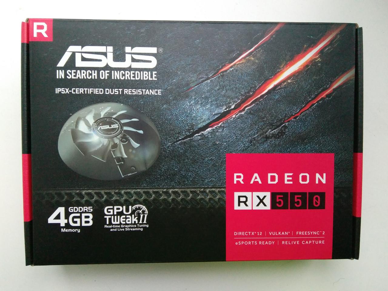 Видеокарта Asus Radeon RX 550 (RX550-4G)
