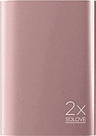 Портативная батарея Solove A8s Portable Metallic Power Bank 20000mAh Rose gold