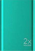 Портативная батарея Solove A8s Portable Metallic Power Bank 20000mAh Green