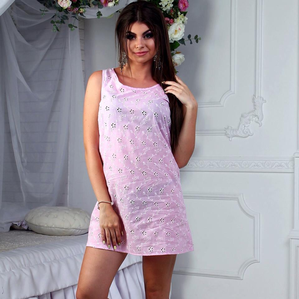 Легкое летнее натуральное платье из прошвы для пляжа и отдыха - AMONA  интернет-магазин модной одежды в Одессе