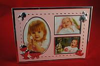Детская фоторамка на 3 фото