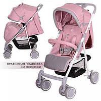 Прогулочная коляска детская El Camino Nota, розовая
