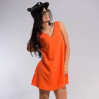 Платье однотонное свободного кроя 38-46 размеры