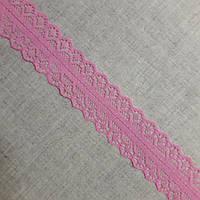 Кружево гипюр Ажур розовое, 2,8 см, фото 1