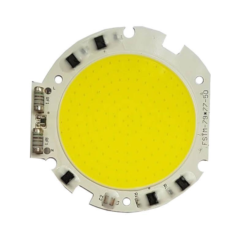 Светодиодная LED матрица 50w 76mm IC SMART CHIP 220V ( встроенный драйвер )