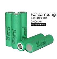 Аккумуляторы для эл. сигарет 18650 Samsung 2500mah 30A inr18650-25R, фото 1