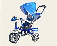 Трехколесный велосипед  Super Trike TR016, надувные колеса, синий