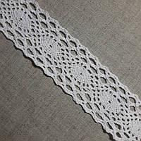 Кружево хлопковое Геометрия белое, 4 см, фото 1
